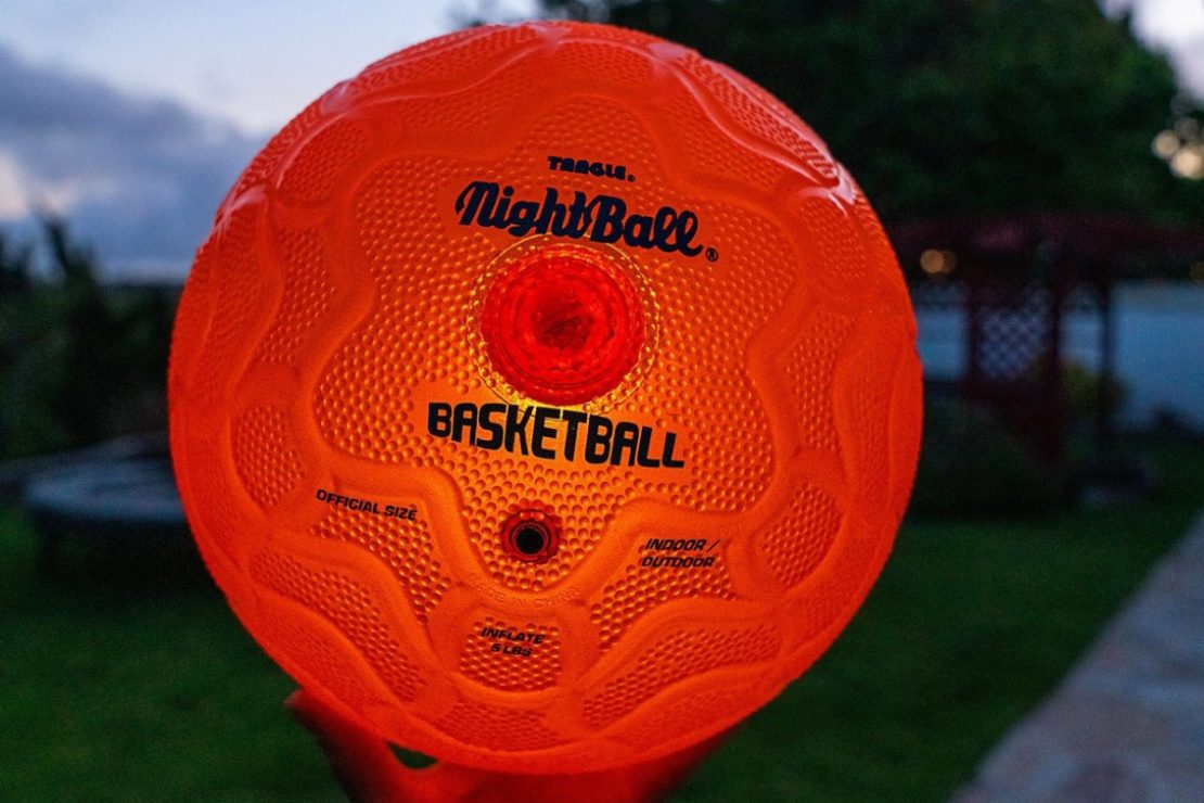 NightBall Basketball in Orange