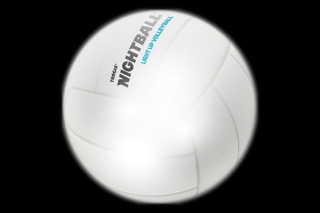 NightBall Volleyball in White