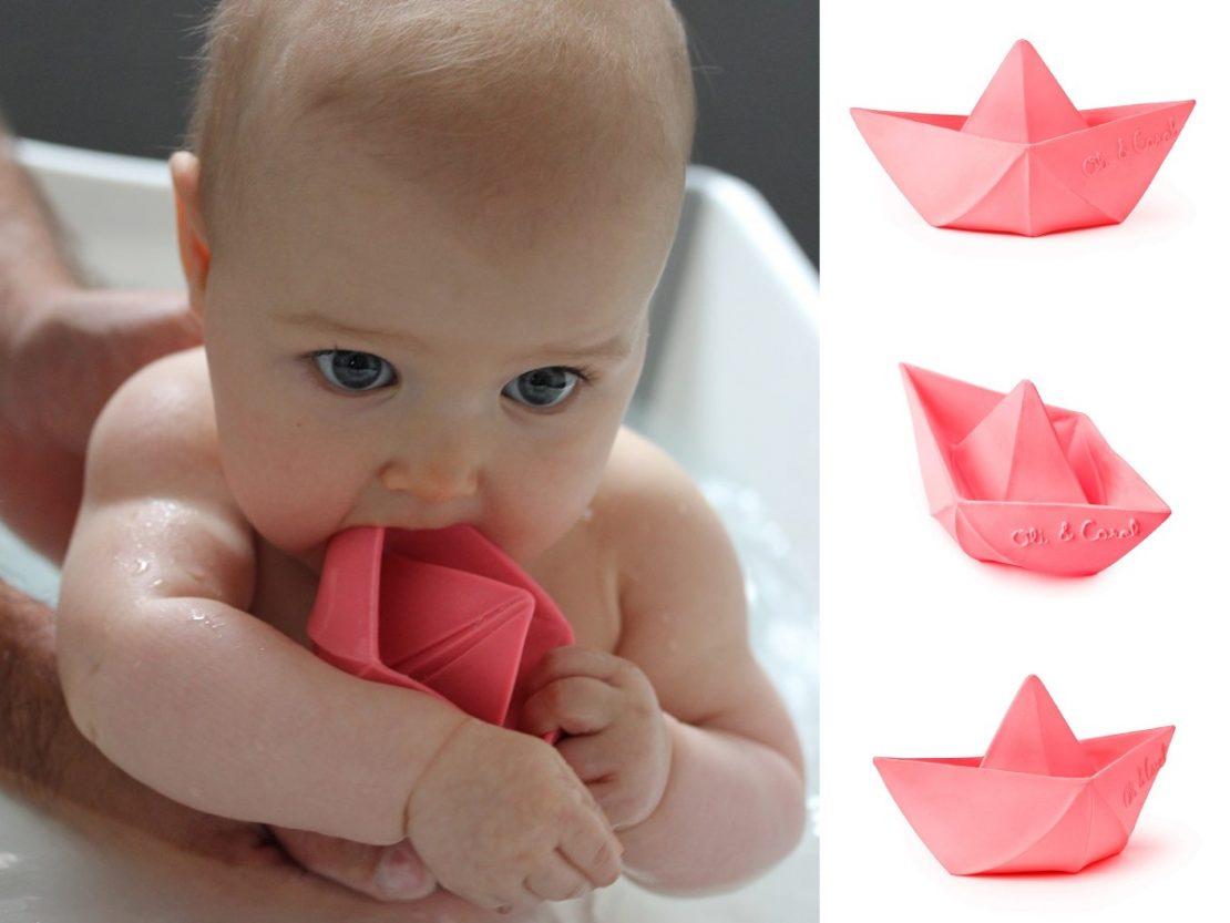 Oli & Carol Origami Boat in Pink