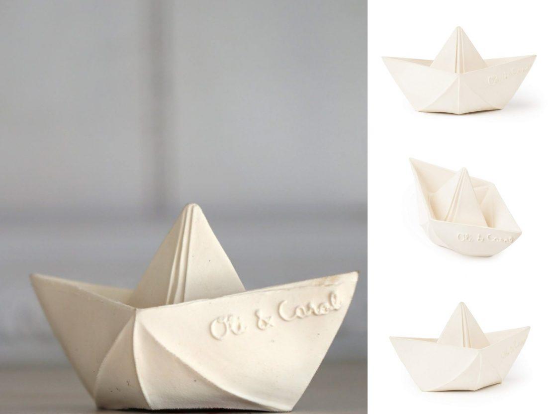 Oli & Carol Origami Boat in White