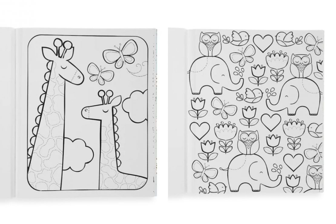 Color-in' Little Cozy Critters Coloring Book from Ooly