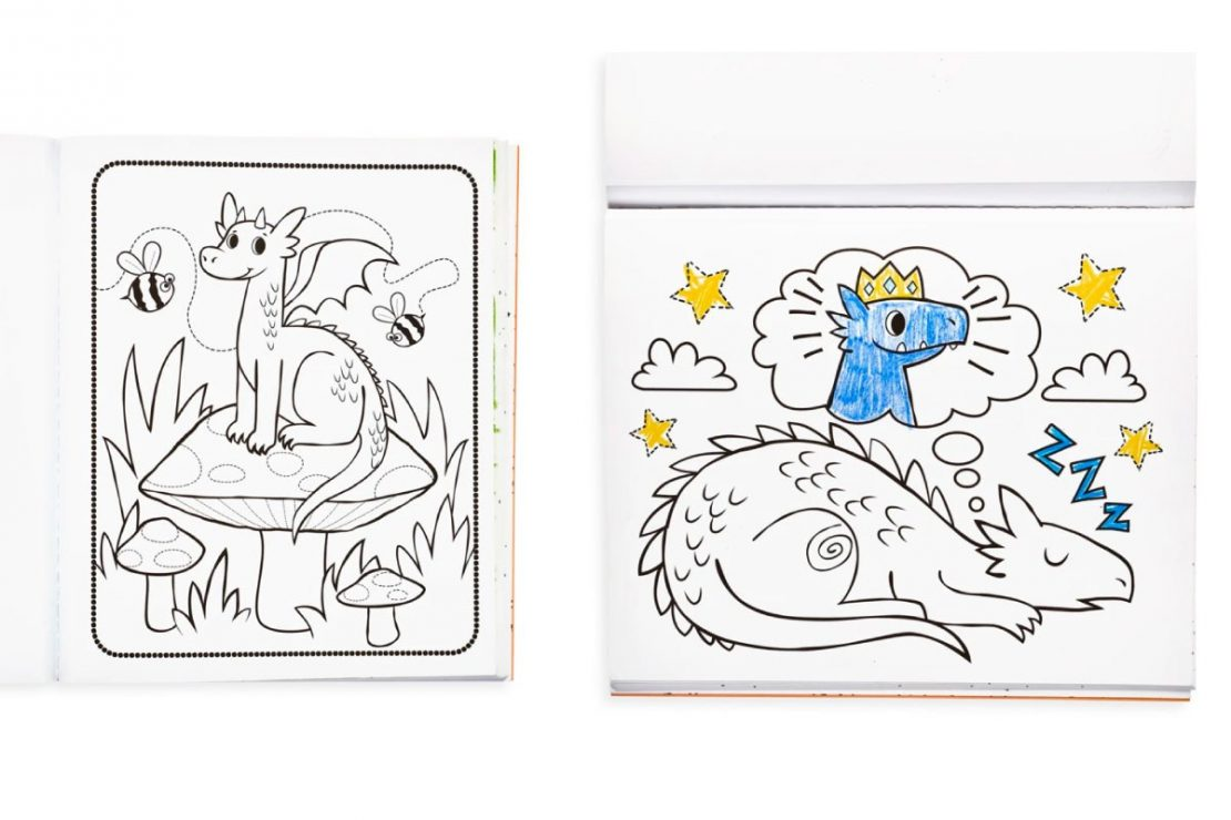 Color-in' Knights & Dragons Coloring Book from Ooly