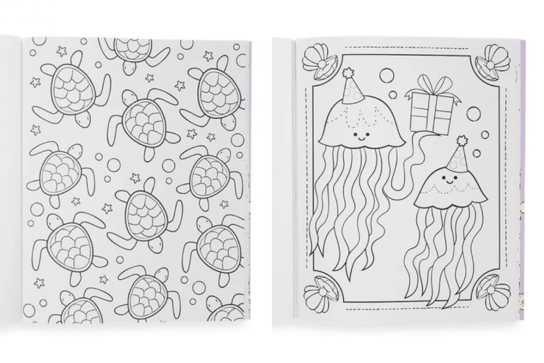 Color-in' Outrageous Ocean Coloring Book from Ooly