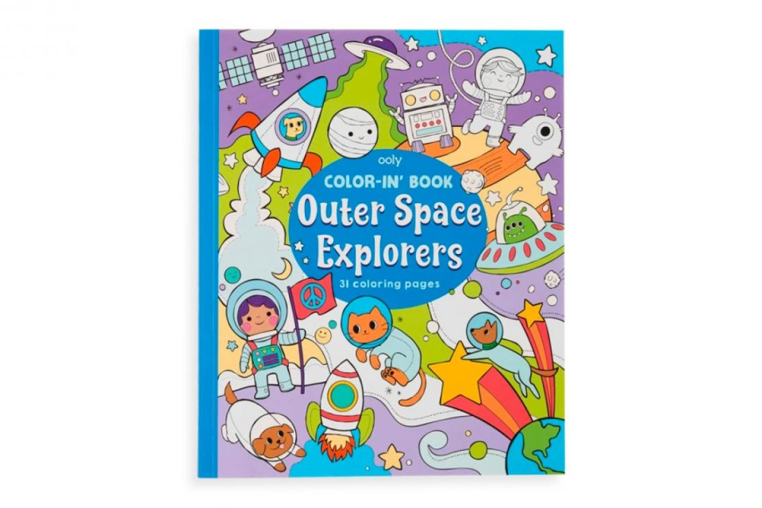 Color-in' Outer Space Explorers Coloring Book from Ooly