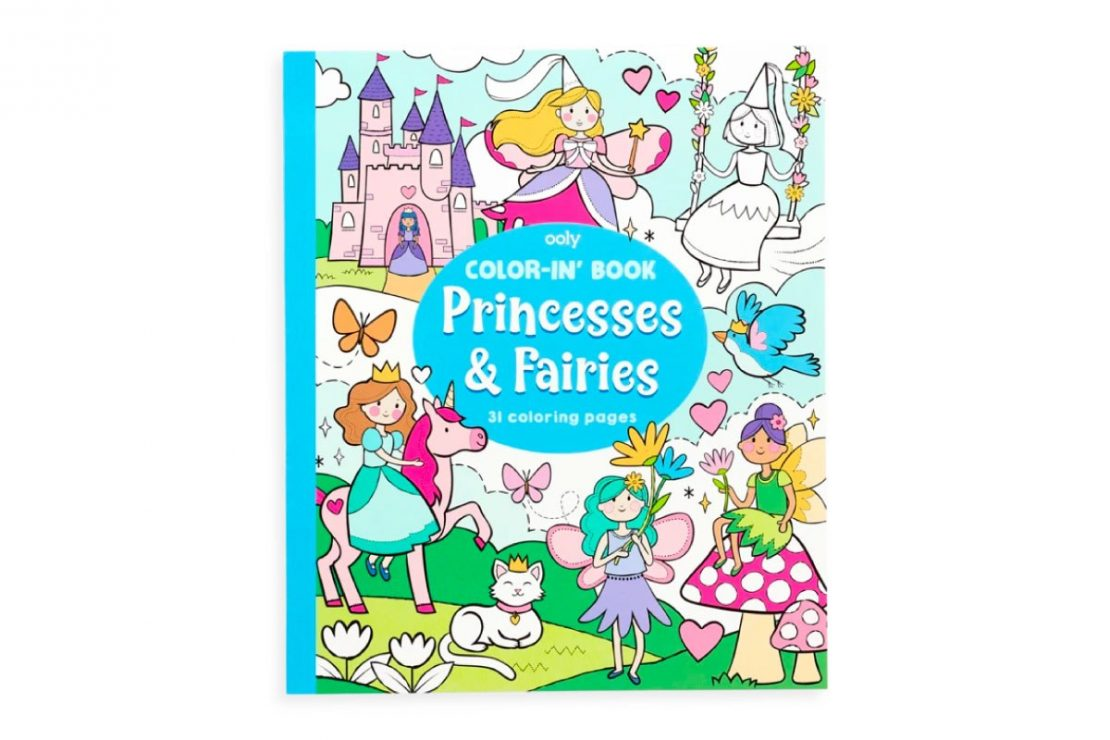 Color-in' Princesses & Fairies Coloring Book from Ooly
