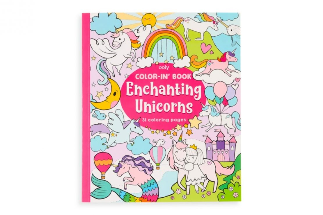 Color-in' Enchanting Unicorns Coloring Book from Ooly