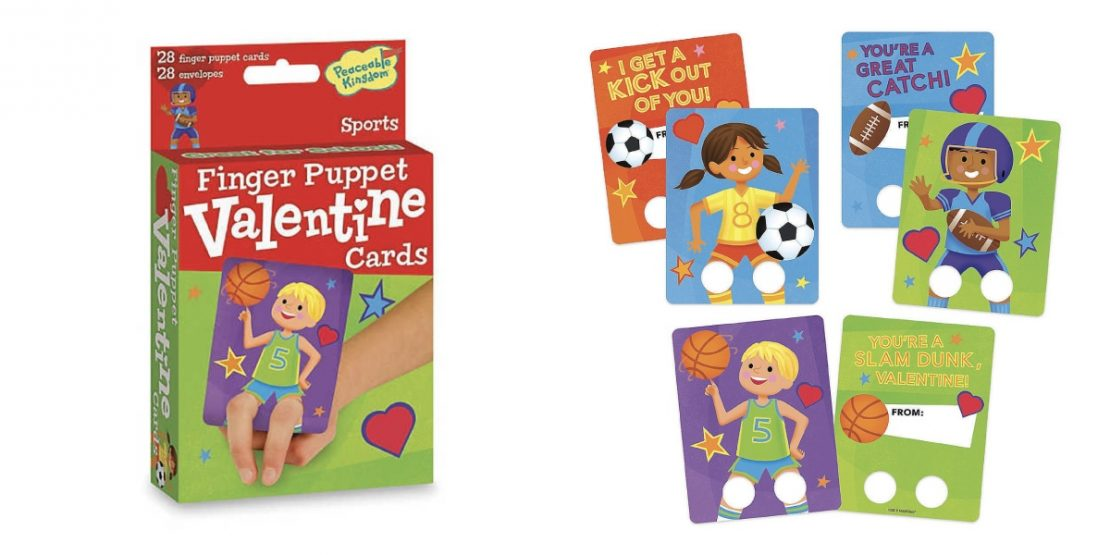 Sports Finger Puppet Valentines