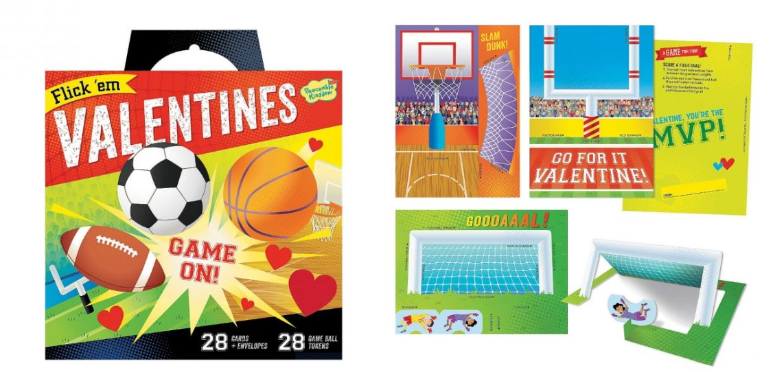 Flick 'Em Sports Peaceable Kingdom Valentines