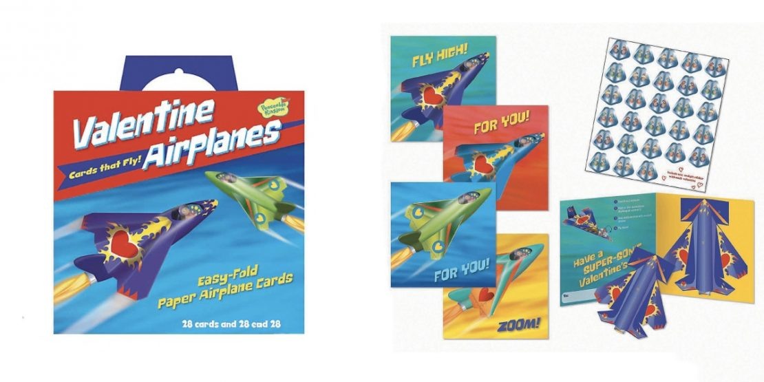 Valentine Airplanes to Fold