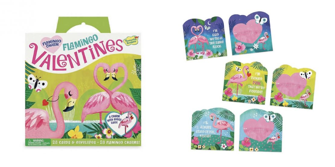 Flamingo Valentines - With Charms