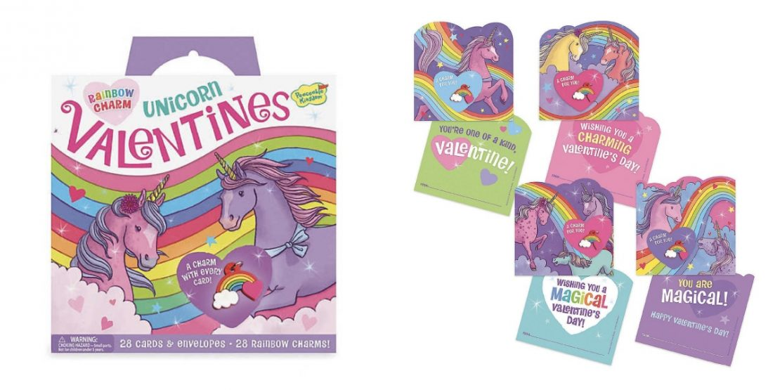 Unicorn Valentines - With Rainbow Charms
