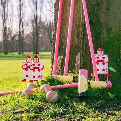 Queen of Hearts Flamingo Croquet from Wonderland Games