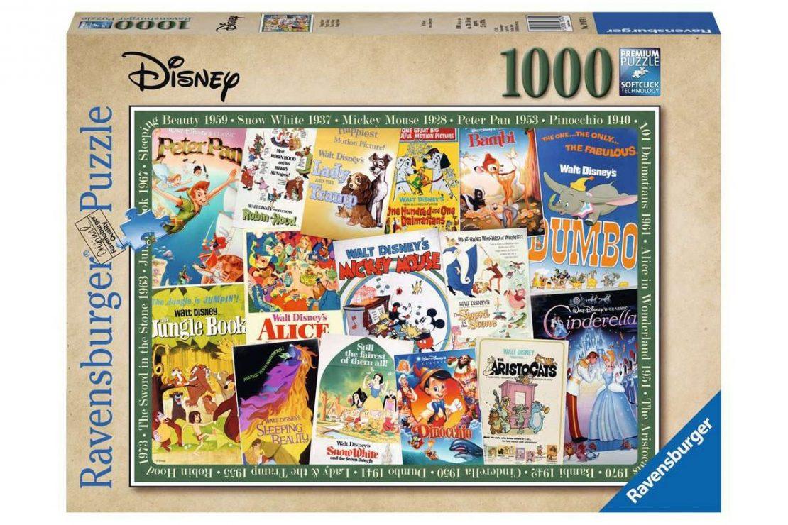 Vintage Disney Movie Posters Ravensburger 1000 Piece Puzzle
