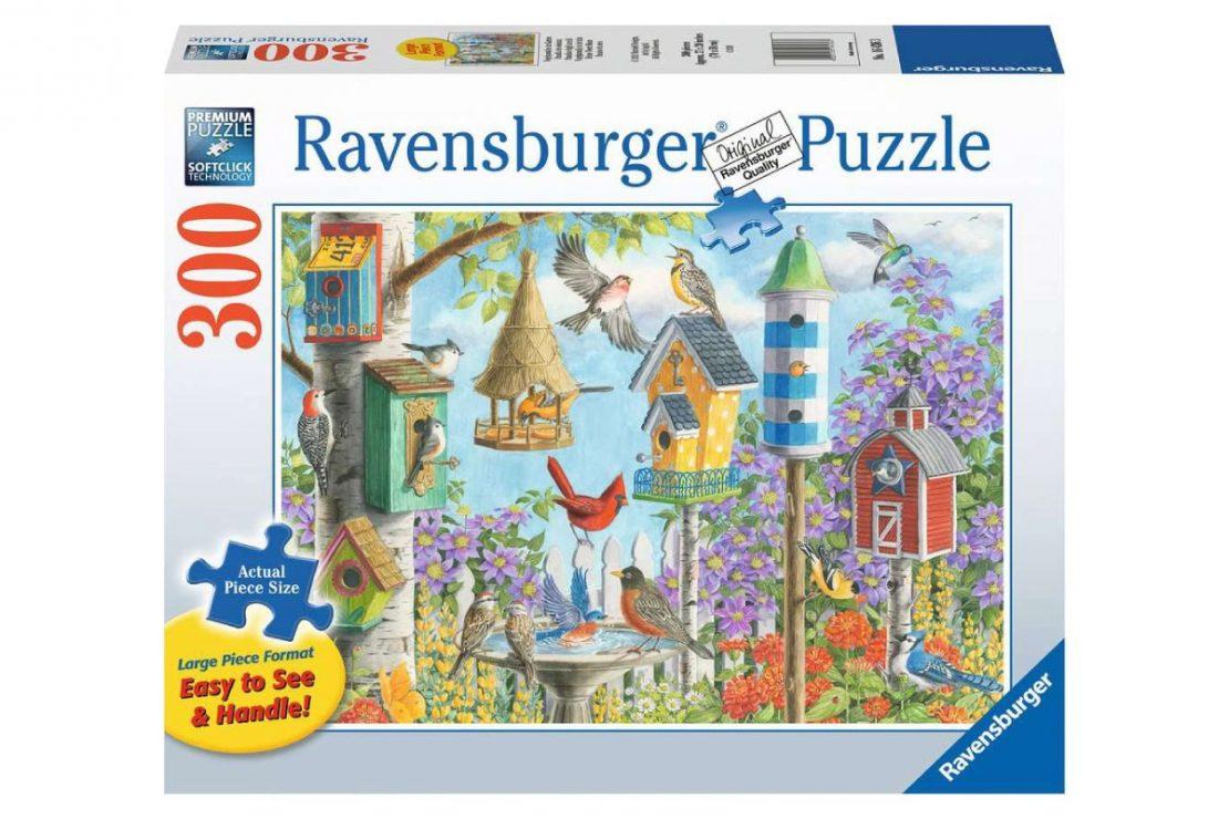 Birdhouses Ravensburger 300 Piece Large Format Puzzle