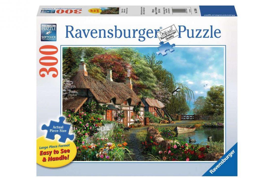 Woodland Cottage Ravensburger 300 Piece Large Format Puzzle