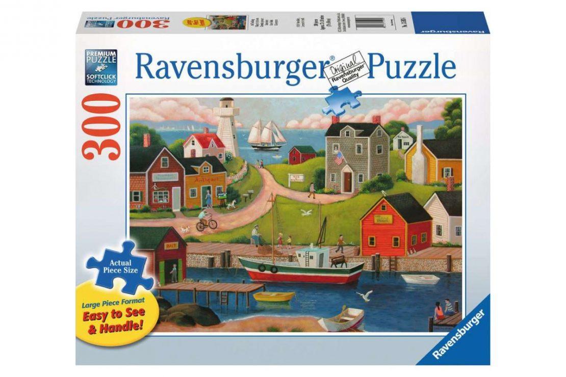 Fishing Village Ravensburger 300 Piece Large Format Puzzle