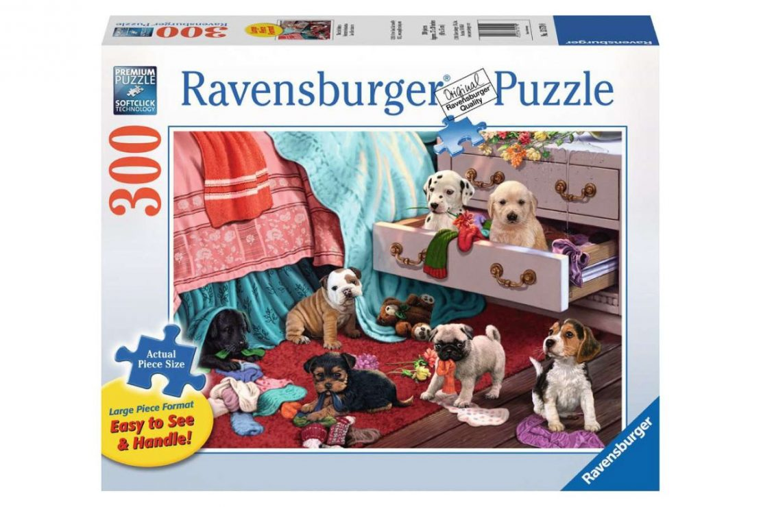 Puppies Ravensburger 300 Piece Large Format Puzzle