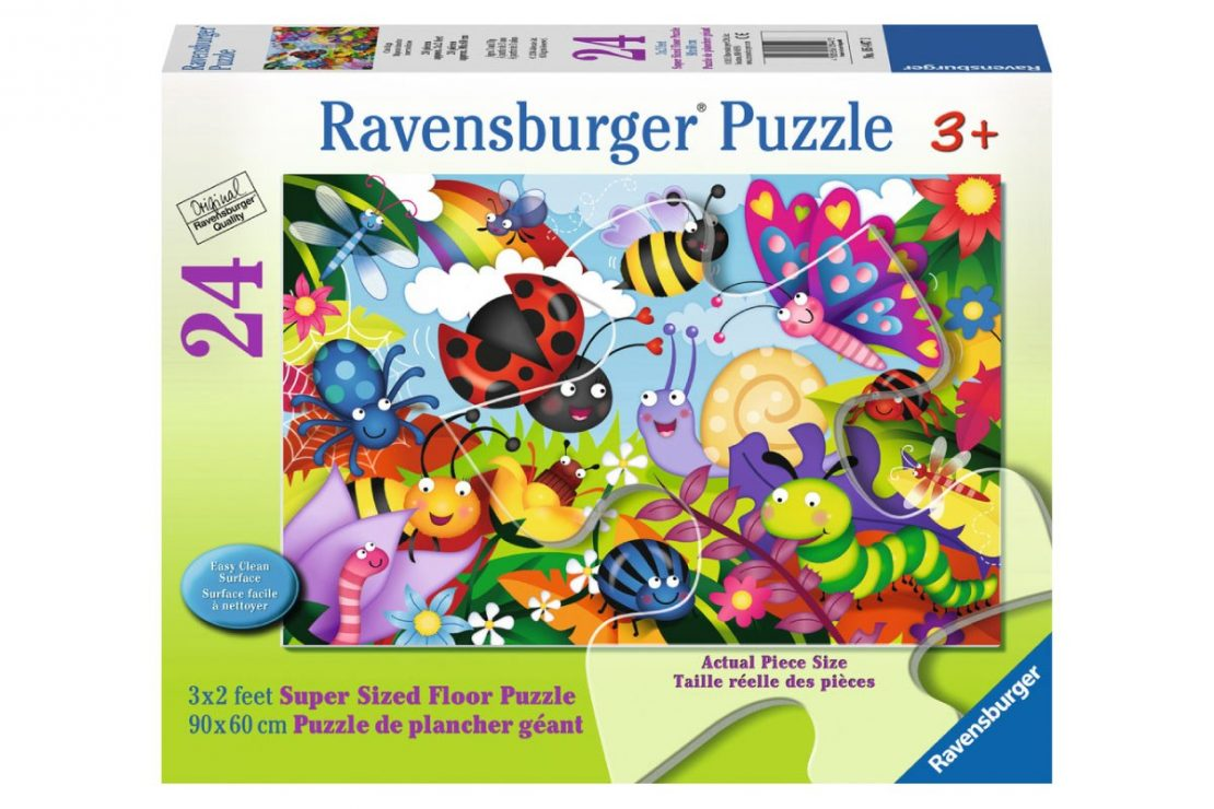 Happy Bugs 24 piece Ravensburger Jigsaw Floor Puzzle