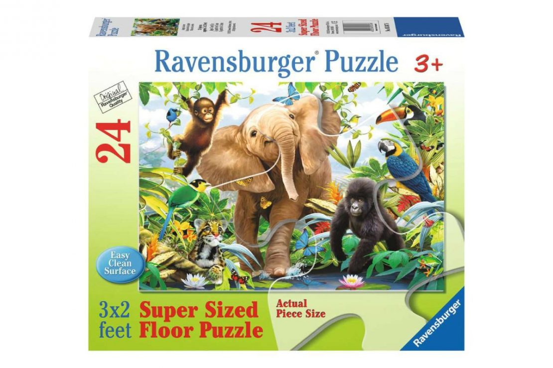 Jungle Friends 24 piece Ravensburger Jigsaw Floor Puzzle
