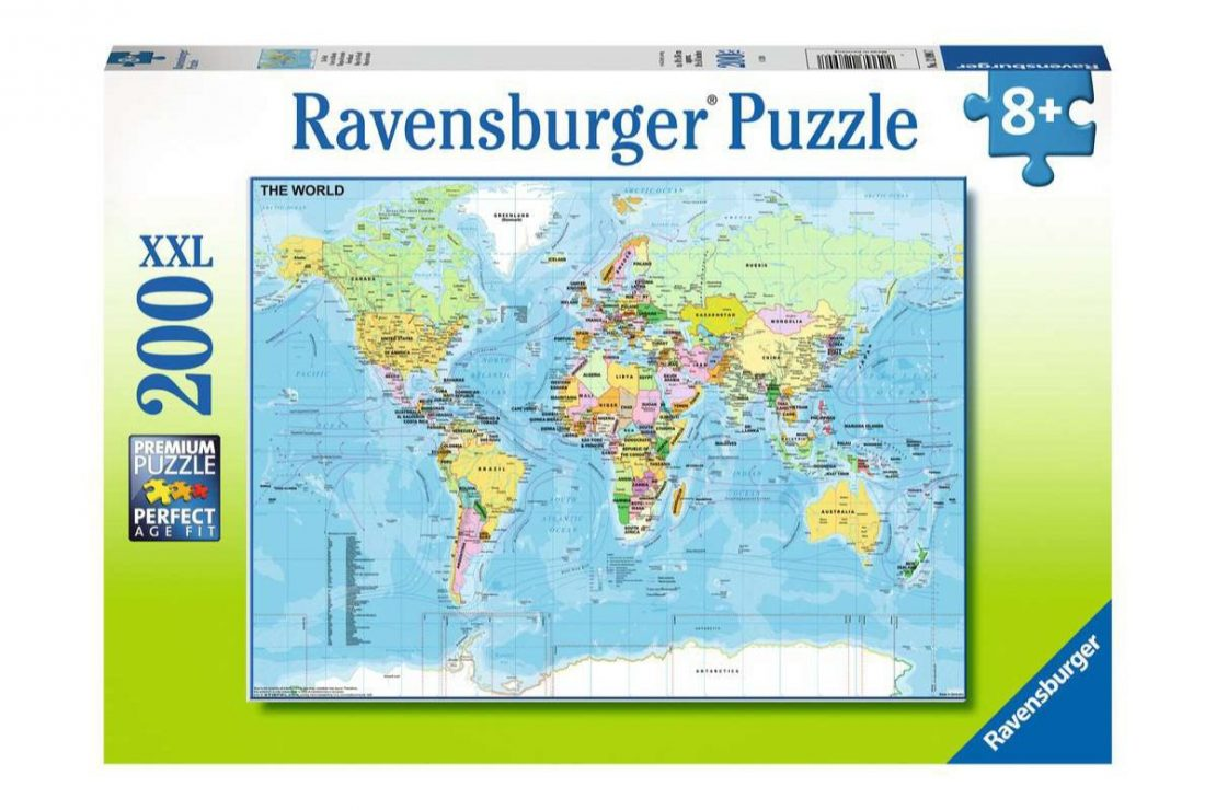 World Map 200 piece XXL Ravensburger Jigsaw Puzzle