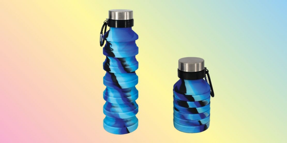 Blue Black Collapsable Water Bottle from iScream