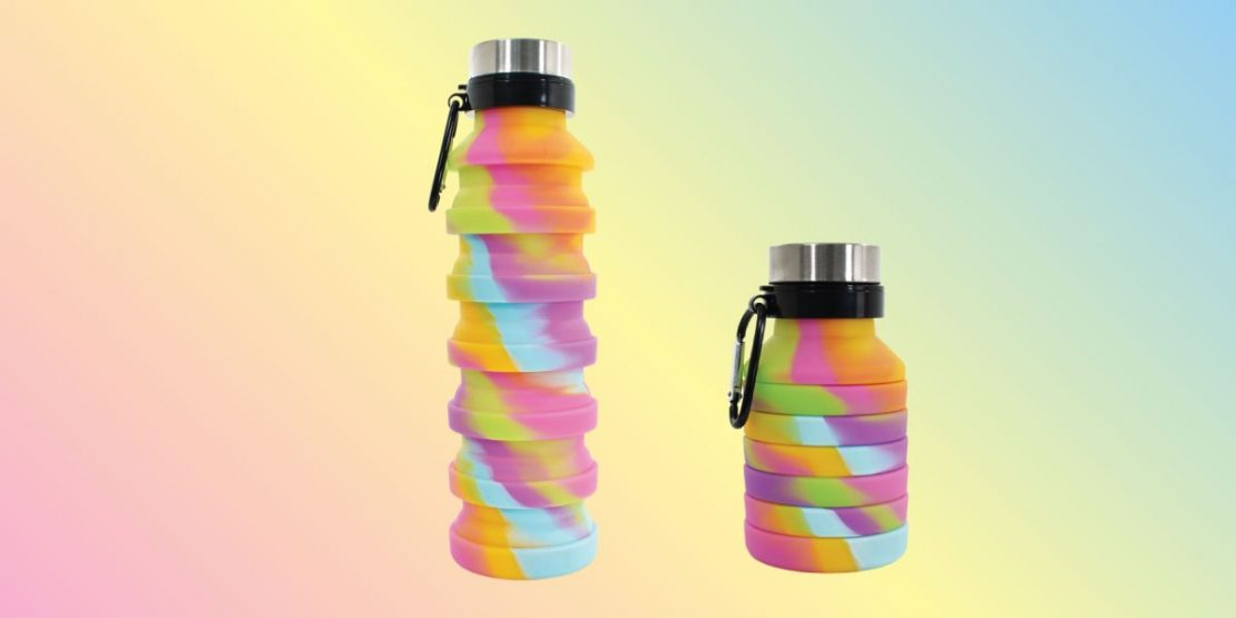 Tie Dye Collapsable Water Bottle from iScream