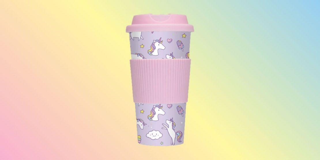 Unicorn Wishes Travel Mug from iScream