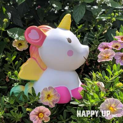 Pegicorn Squishy loves flowers