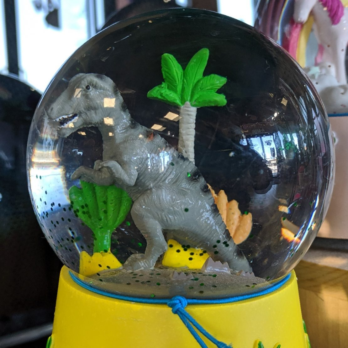 Floss & Rock Dinosaur Snow Globe
