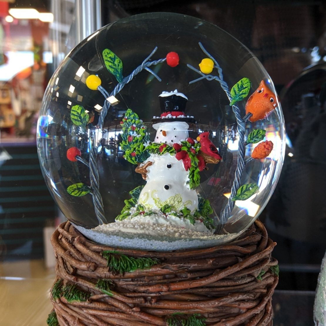 Roman Woodland Snowman Snow Globe