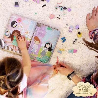 Story Magic Dress Up Dolls Travel Playset
