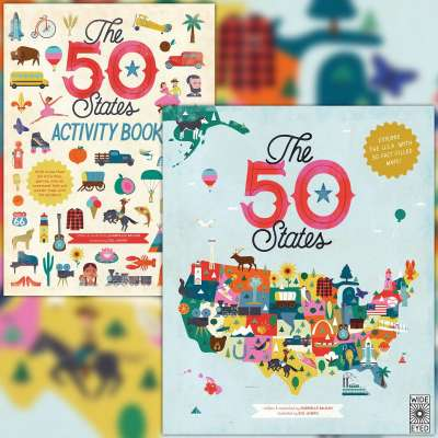 The 50 States by Gabrielle Balkan and 50 States Activity Book