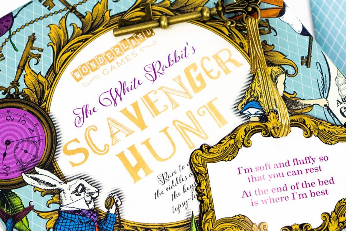 The White Rabbit's Scavenger Hunt from Wonderland Games