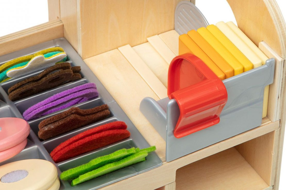 Wooden Slice & Stack Sandwich Counter from Melissa & Doug
