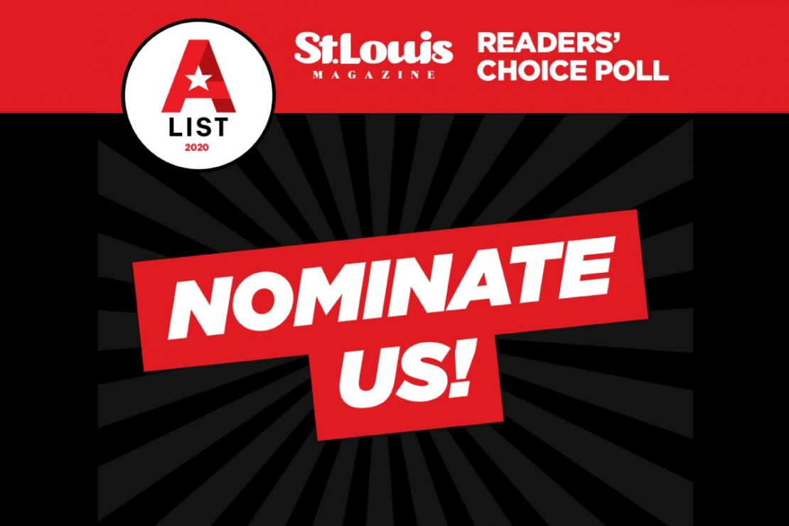 2020 St Louis Magazine Nomination to the A List Poll